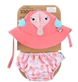 Zoocchini Zoocchini UPF50+ Swim Diaper & Sun Hat Set Seahorse