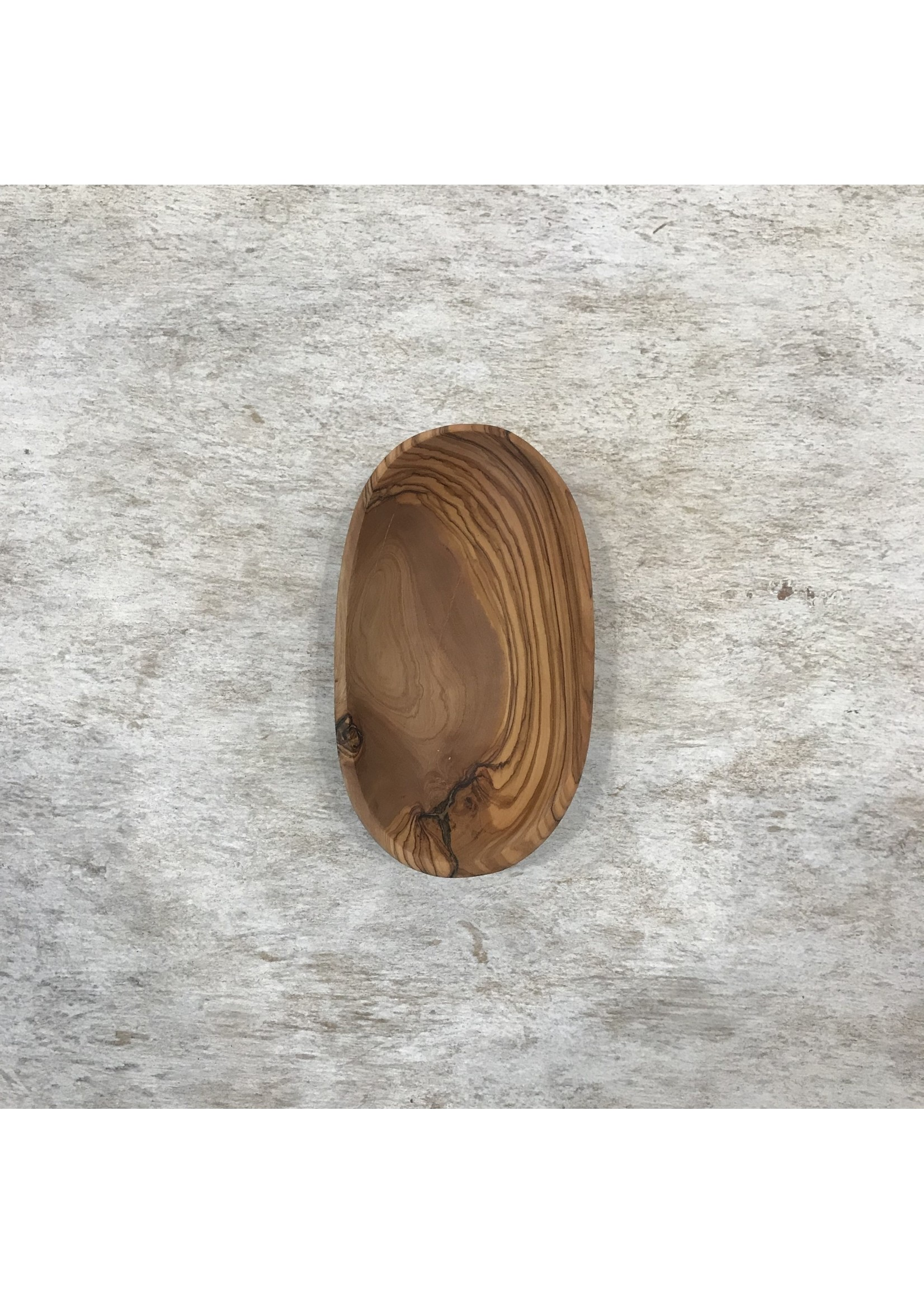 Olive Wood Oval Dish Small