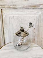 Glass Honeybee Pot with Spoon