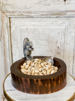 Serving Bowl - Standing Squirrel Nut Bowl & Acorn Scoop