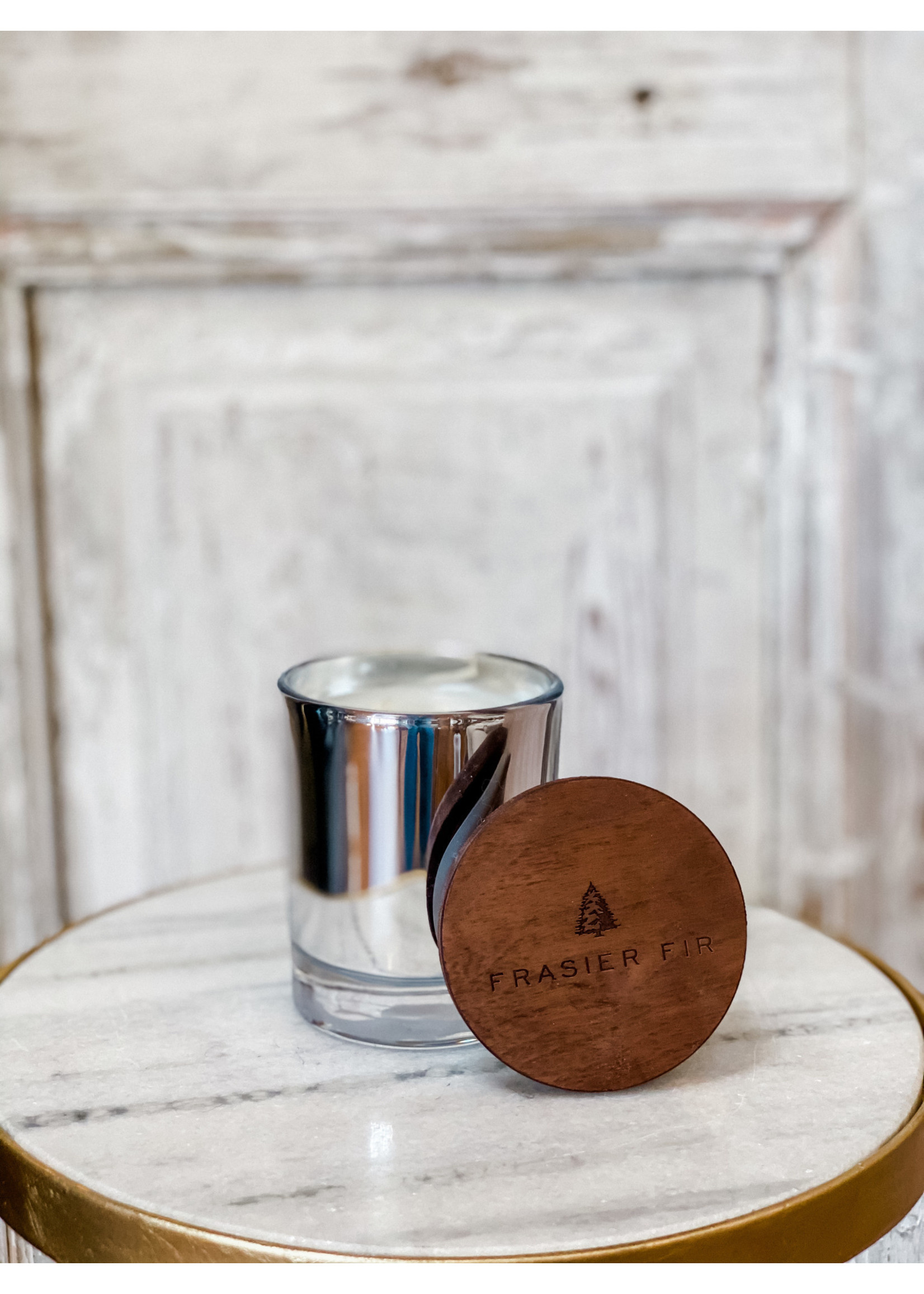Thymes Frasier Fir - Statement Poured Candle - Silver - Small