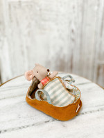 Maileg Baby Mouse - in Carrycot