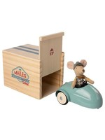 Maileg Little Brother Mouse Car with Garage