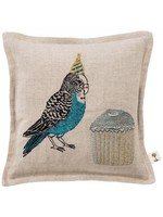 Coral and Tusk Pillow - 7x7 - Birthday Parakeet