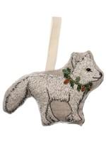 Coral and Tusk Ornament - Christmas Fox