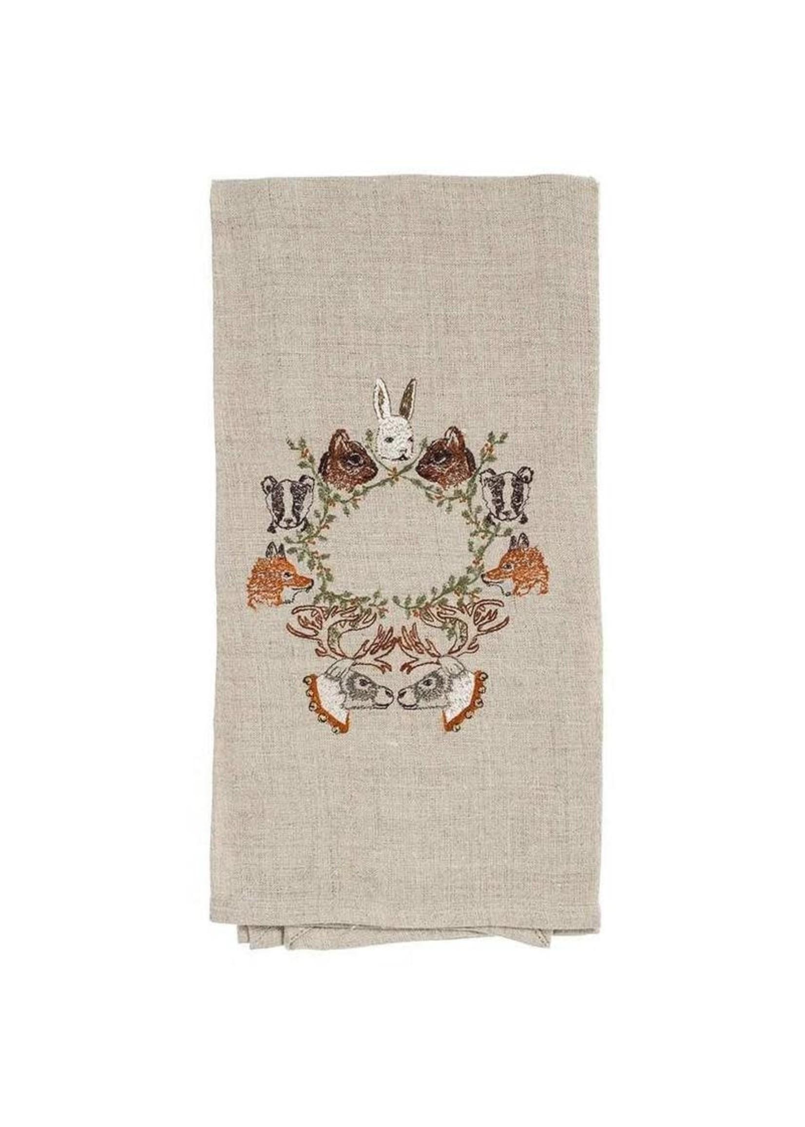 Coral and Tusk Tea Towel - Peek a Wreath