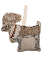 Coral and Tusk Ornament - Reindeer with Bells