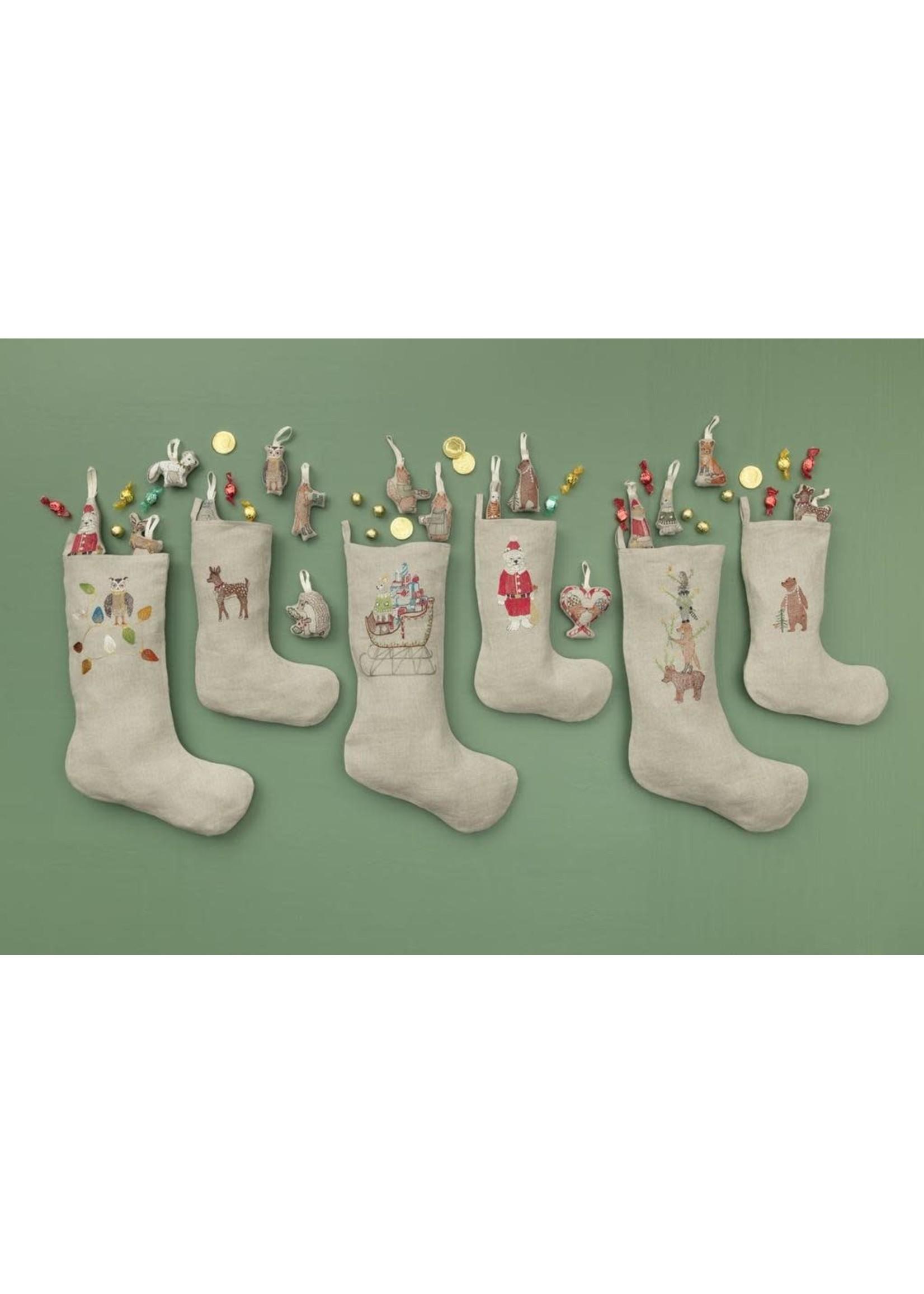 Coral and Tusk Stocking - Santa's Sleigh - Large