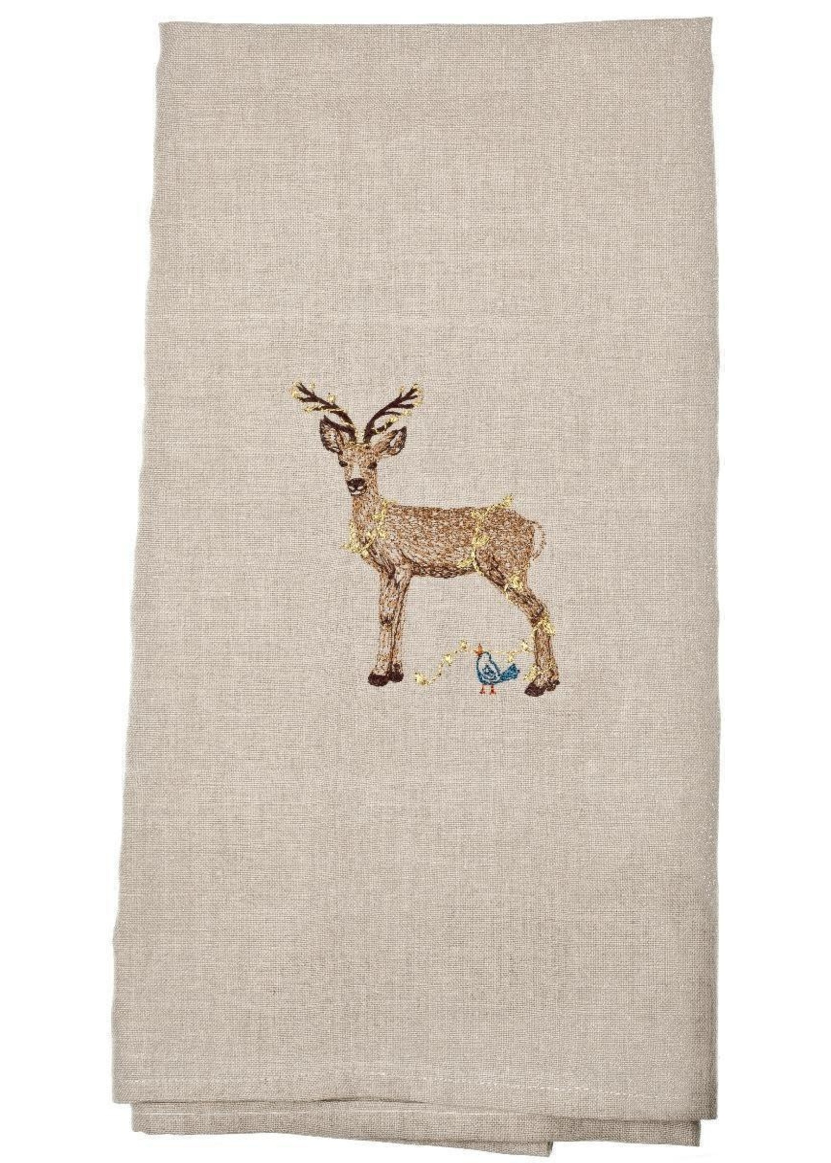 Coral and Tusk Tea Towel - Deer with Lights