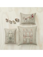 Coral and Tusk Pillow - 20x20 - Brick Townhouse