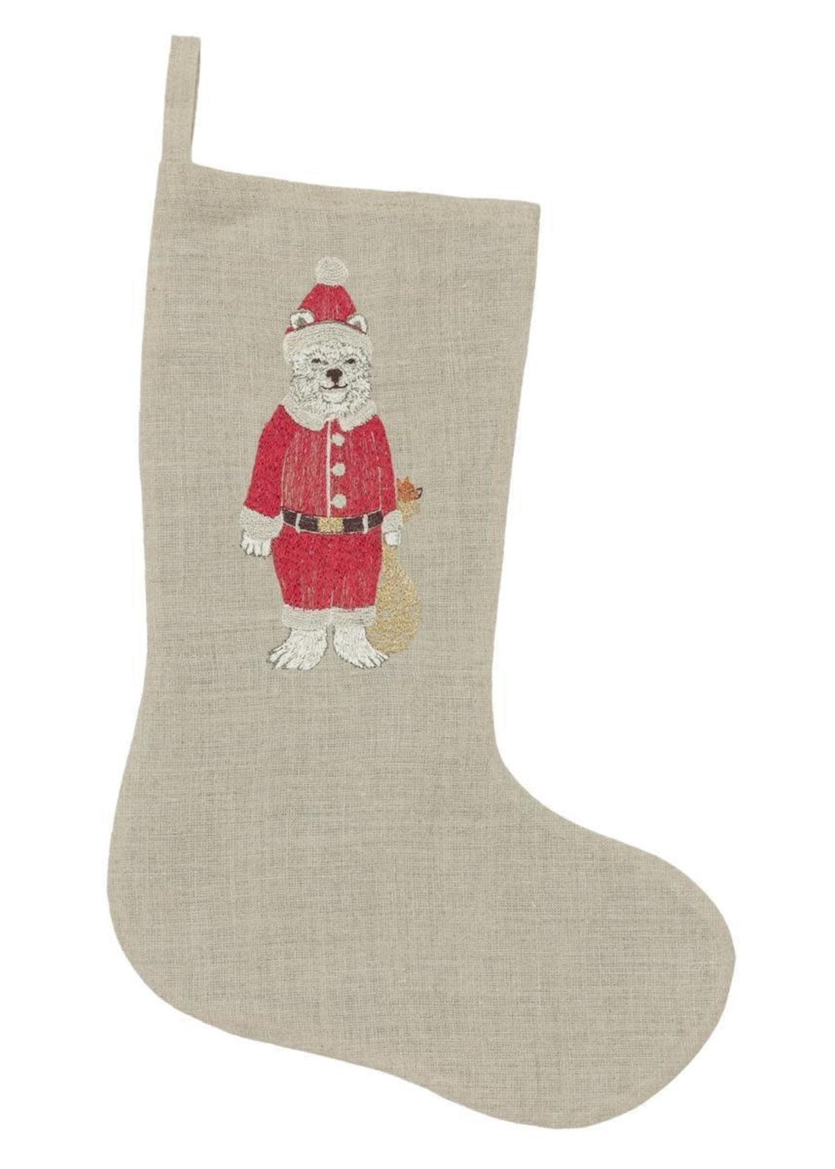 Coral and Tusk Stocking - Small - Polar Bear Santa