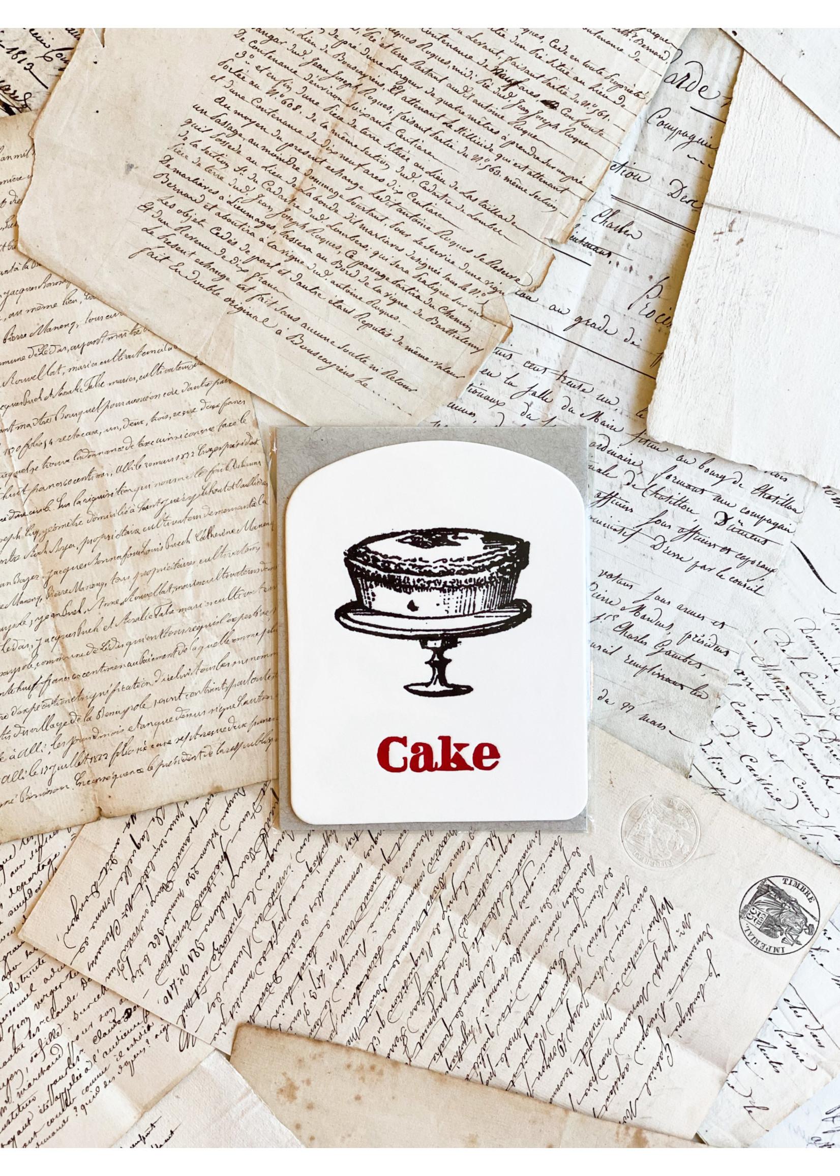 Word Card - Cake