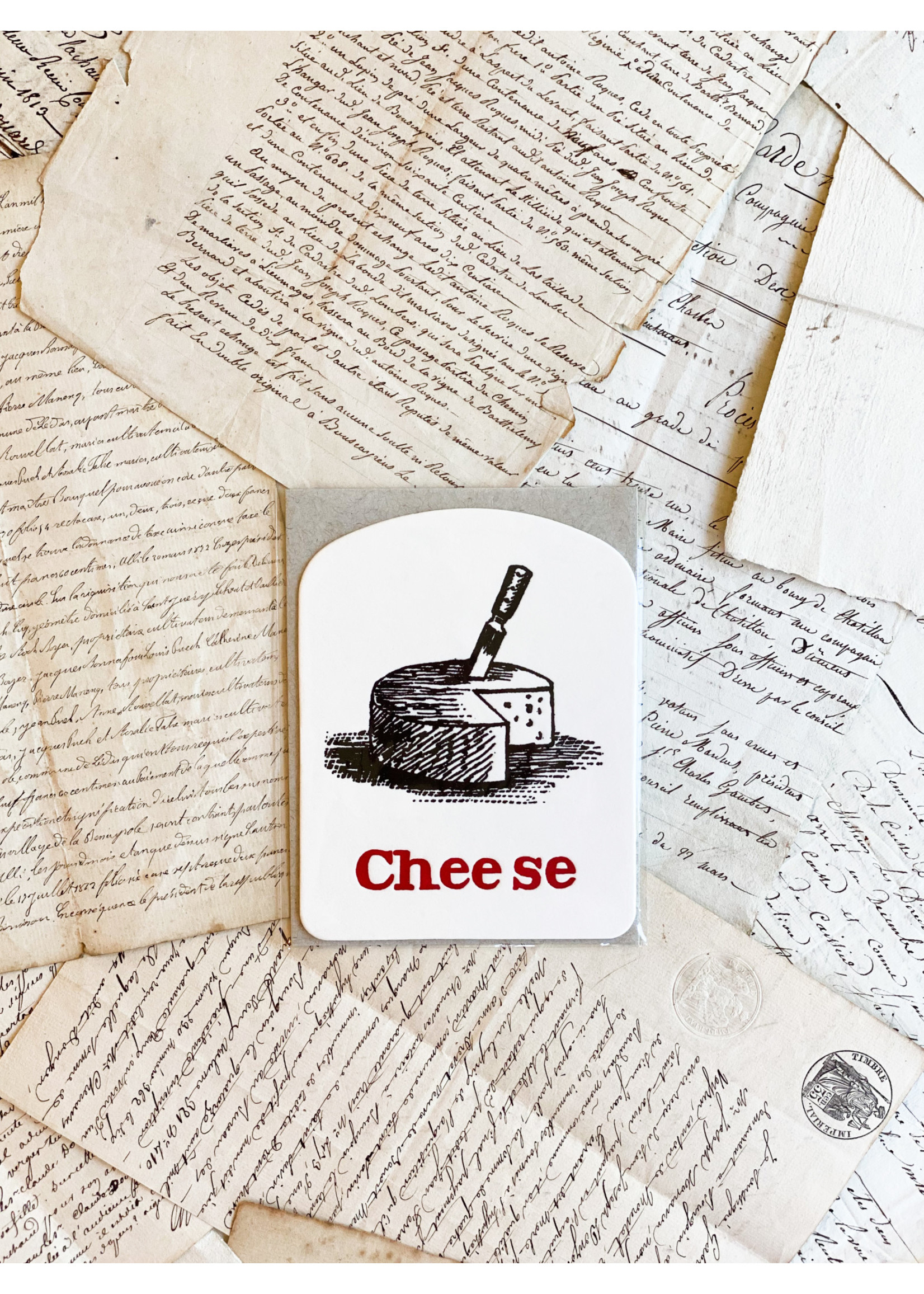 Word Card - Cheese