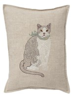Coral and Tusk Pillow - Fancy Cat