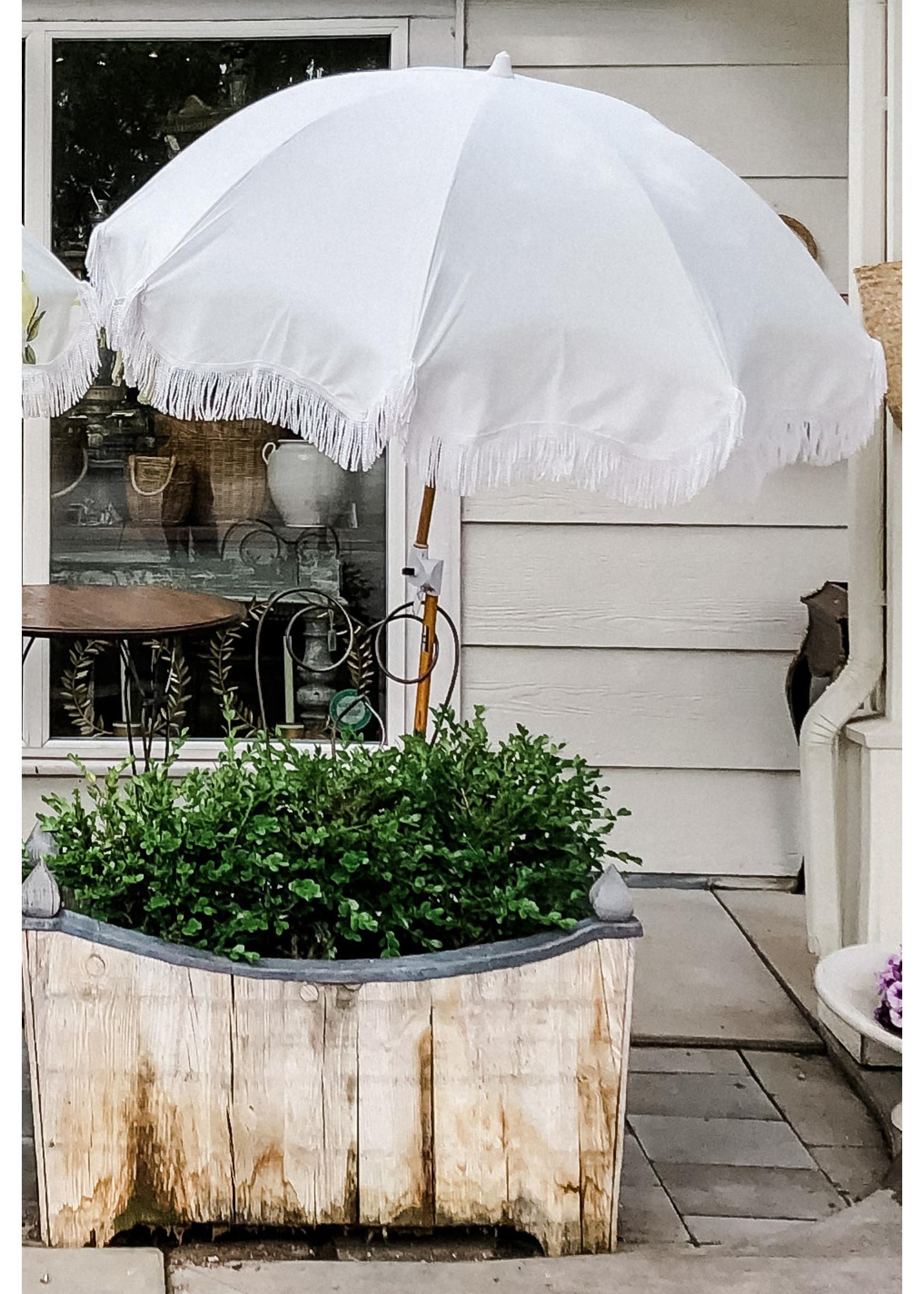 Holiday Beach Umbrella - Antique White
