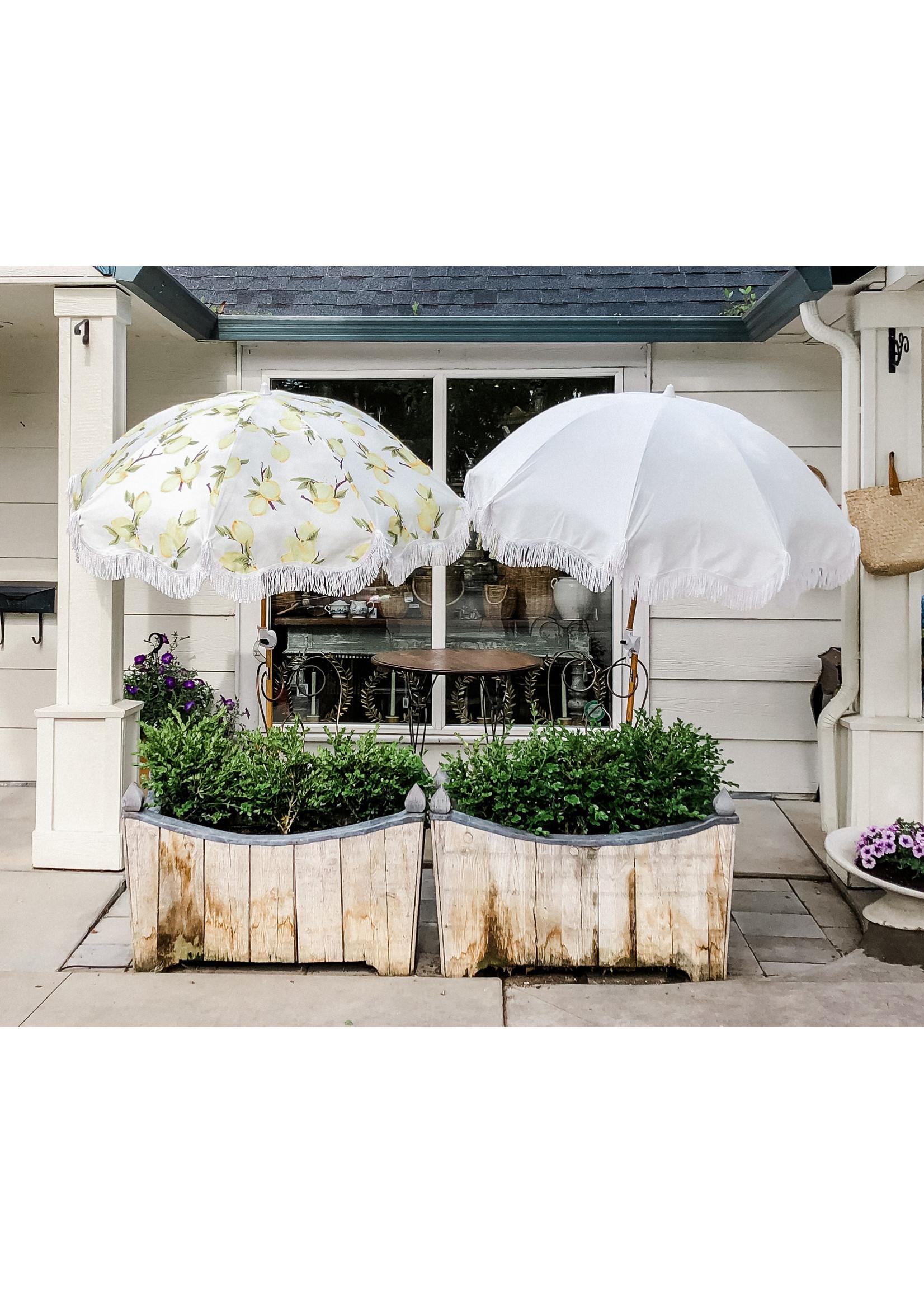 Holiday Beach Umbrella - Vintage Lemons