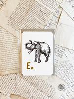 Flash Card - E for Elephant