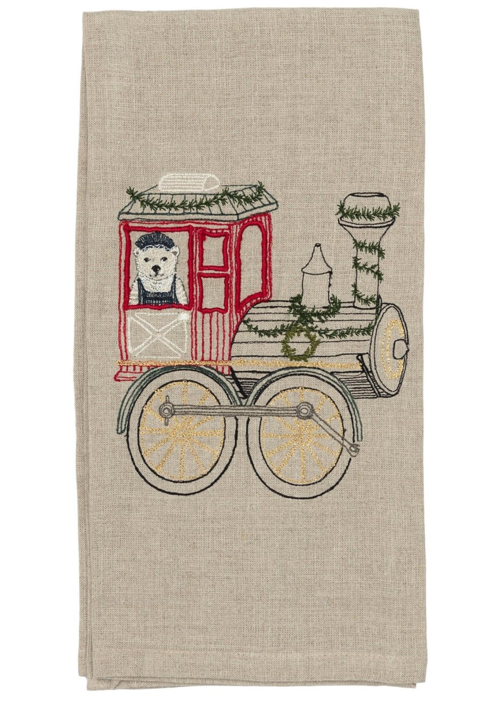 Coral and Tusk Tea Towel - Christmas Train