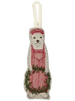 Coral and Tusk Ornament - Train Conductor Bear