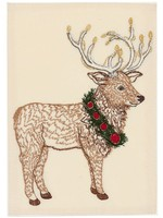 Coral and Tusk Card - Elk with Christmas Wreath