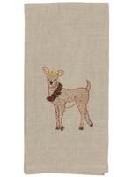 Coral and Tusk Towel - Deer with Christmas Wreath