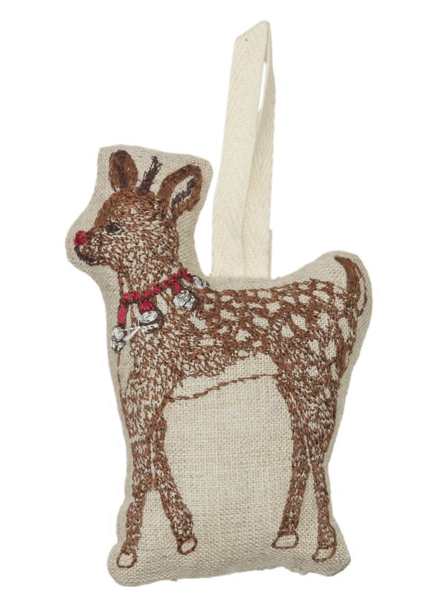 Coral and Tusk Ornament - Rudolph