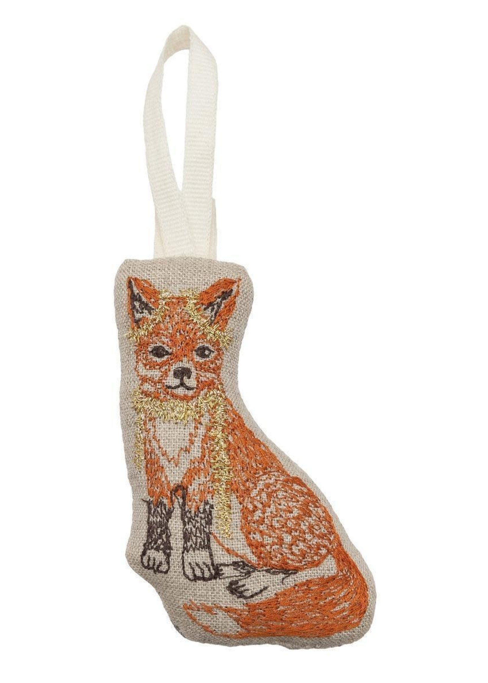 Coral and Tusk Ornament - Fox Tree Trimmer