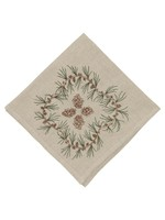 Coral and Tusk Dinner Napkin - Pinecone