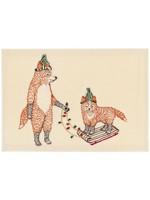 Coral and Tusk Card - Christmas Fox on Sled