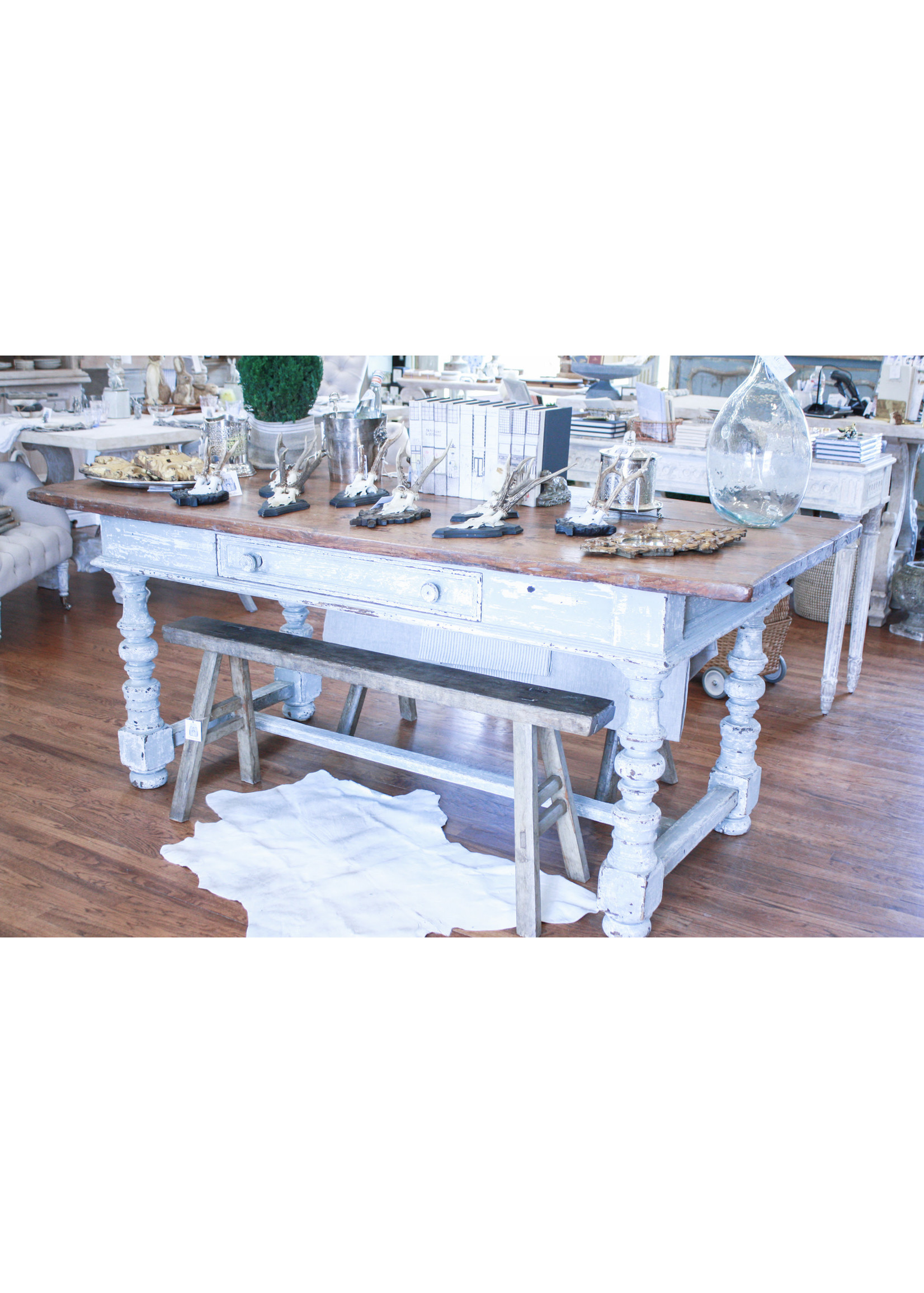 Antique French Farm Table