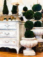 Antique French Concrete Urns