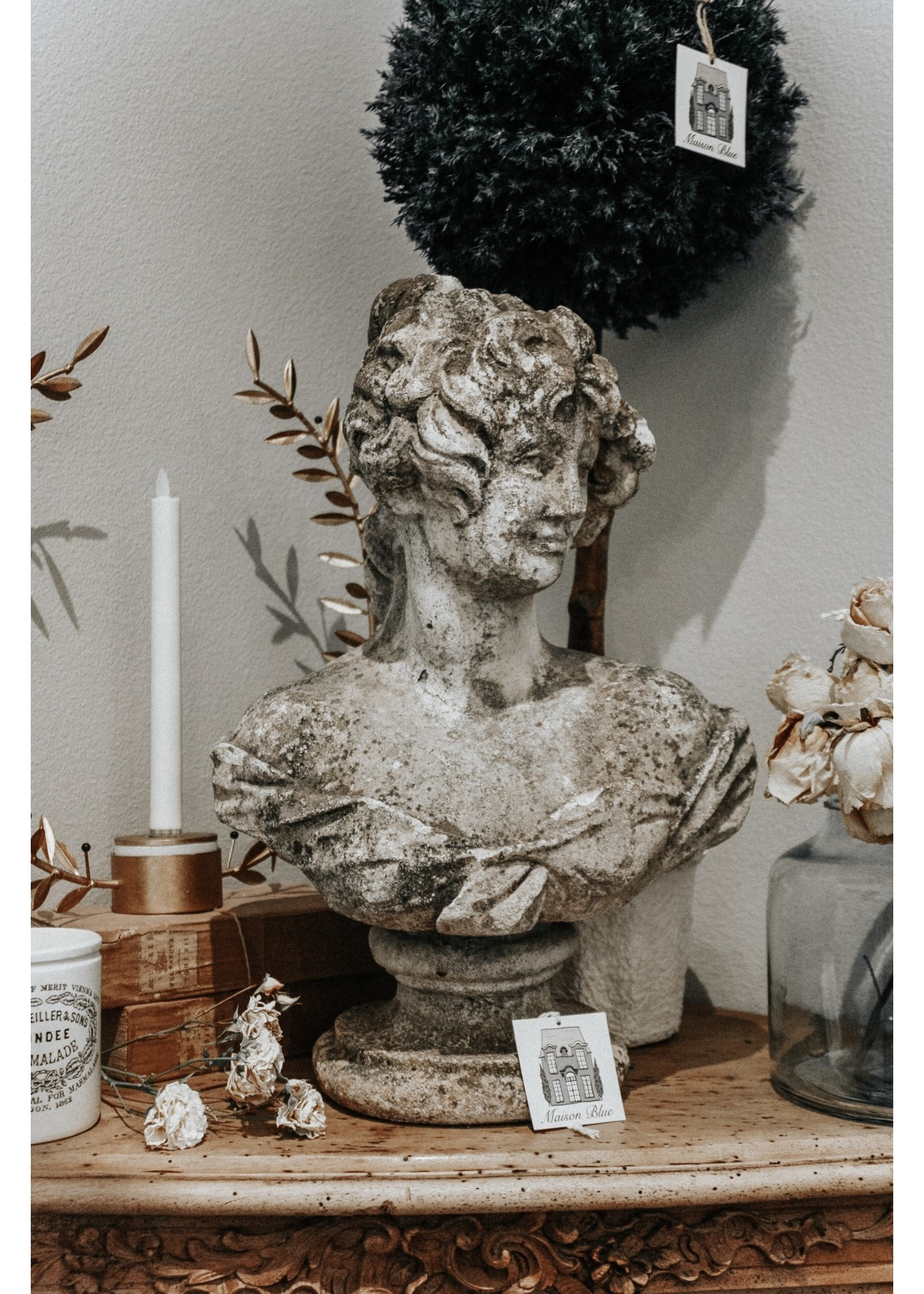Antique French Lady Bust