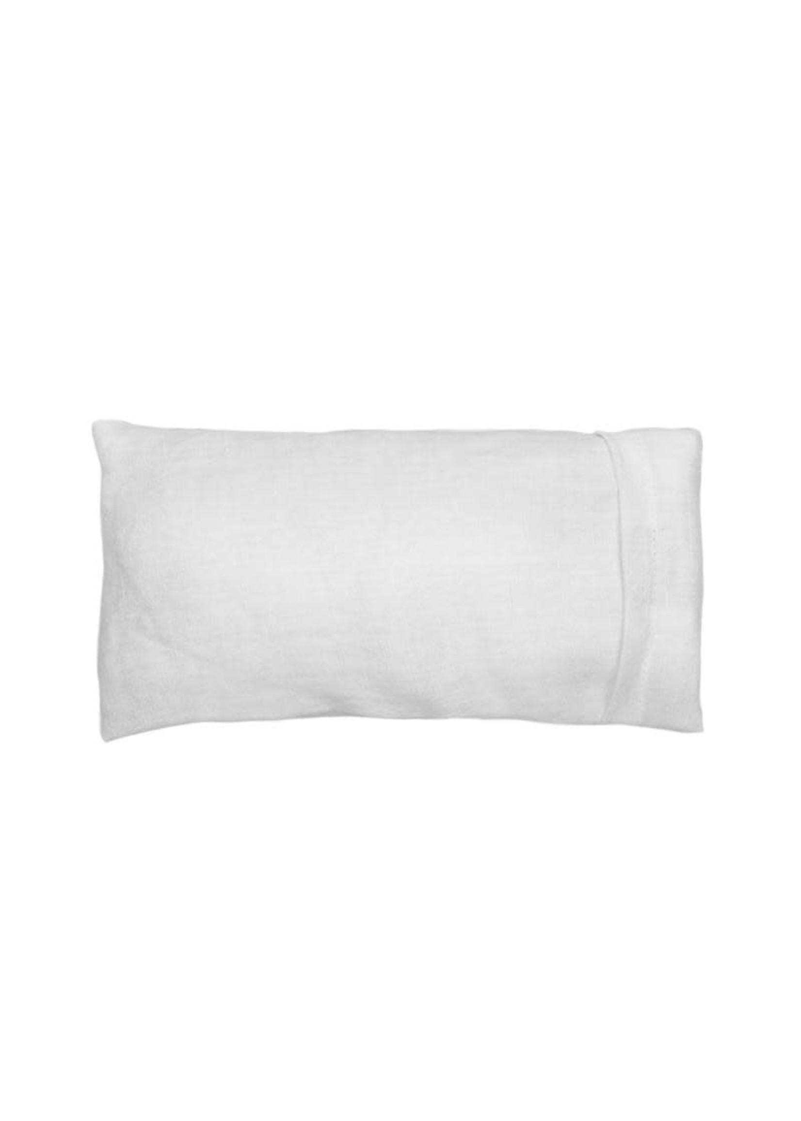 Elizabeth W Eye Pillow -Washed Linen Ivory