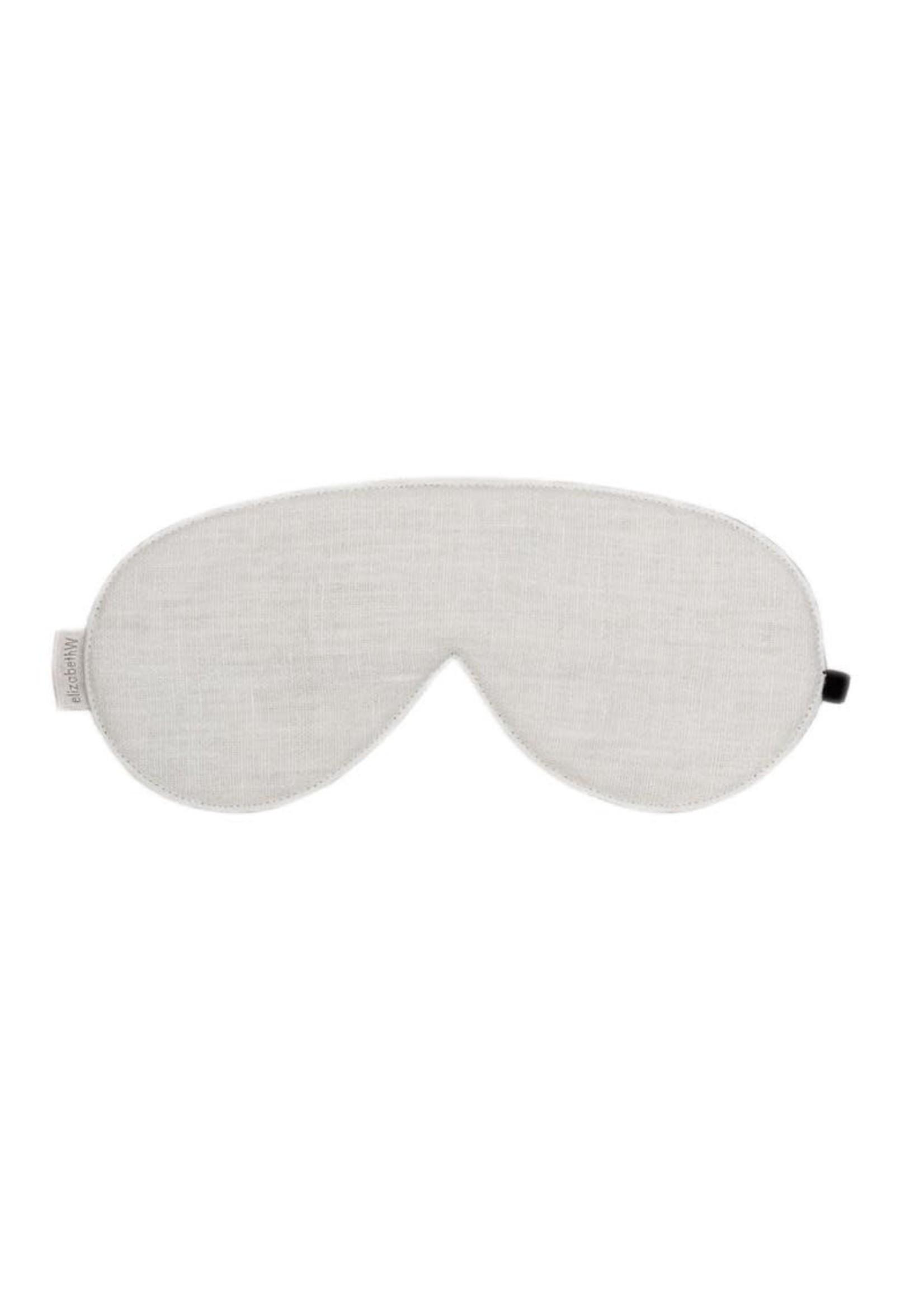 Elizabeth W Washed Linen Eye Mask - Ivory