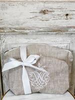Crown Linen Makeup Bags - Crest - Flax (Set of 2)