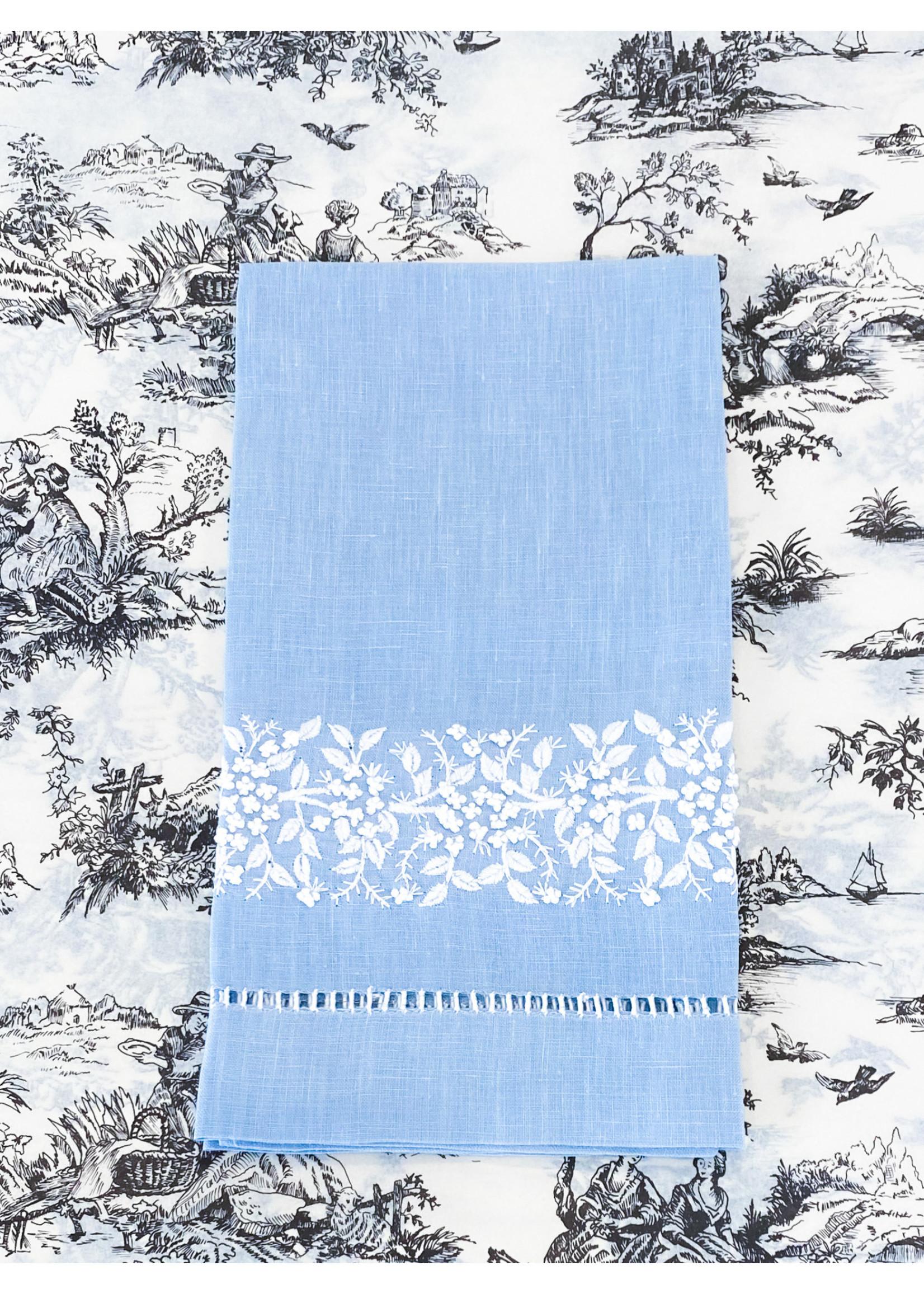 Henry Handwork Towel - Jardin Estate Blue