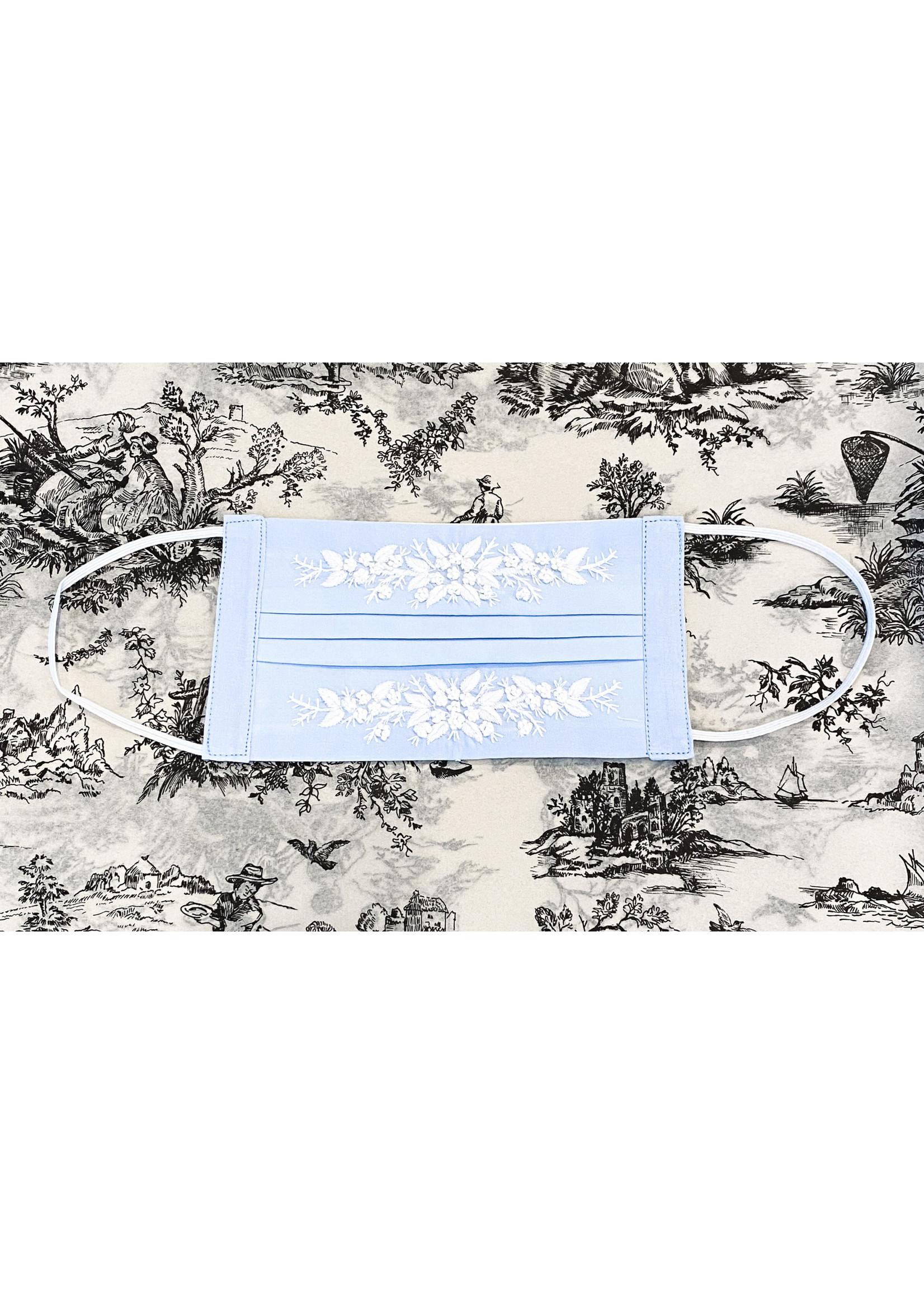 Henry Handwork Mask - Jardin White/Blue