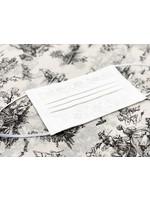 Henry Handwork Mask - Jardin White/White