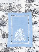 Henry Handwork Cocktail Napkin - Jardin Estate Blue (set of 4)
