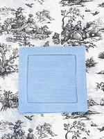 Henry Handwork Cocktail Napkin - Heirloom Estate Blue (set of 4)
