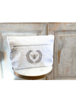 Crown Linen Essential Bag - Bumble Bee - White