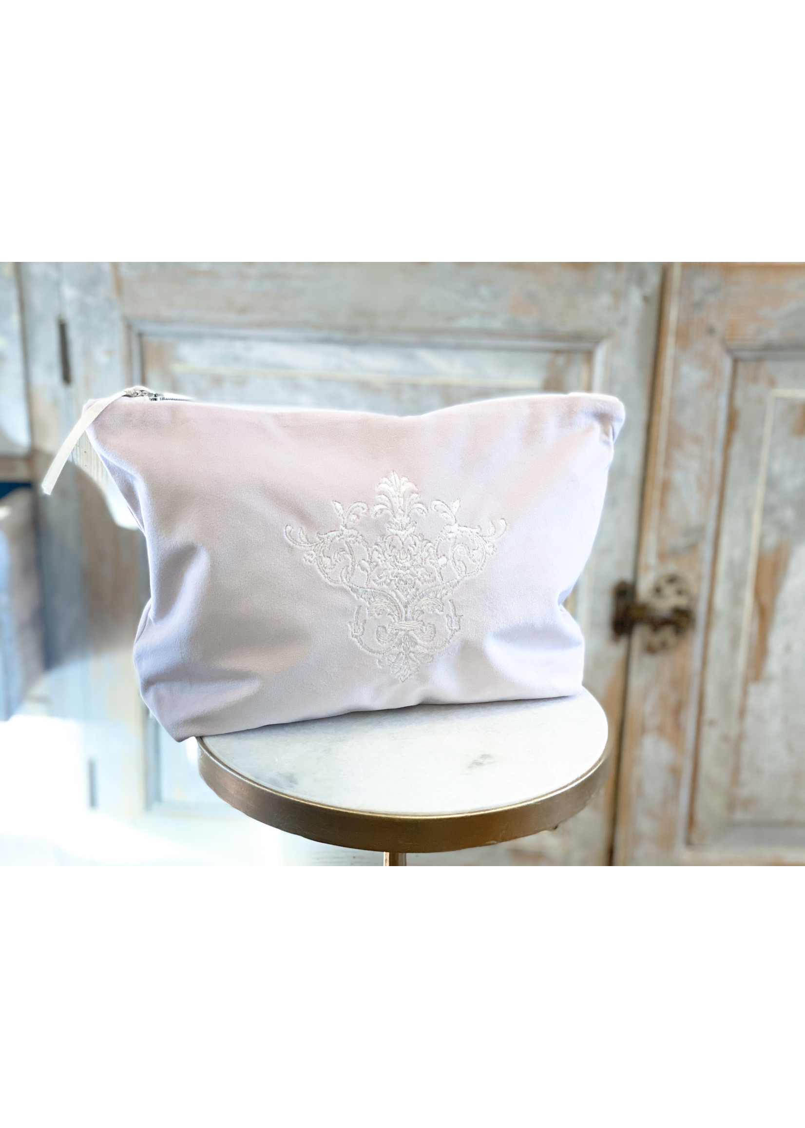 Crown Linen On The Go Bag - Victorian - Velvet Pink Large