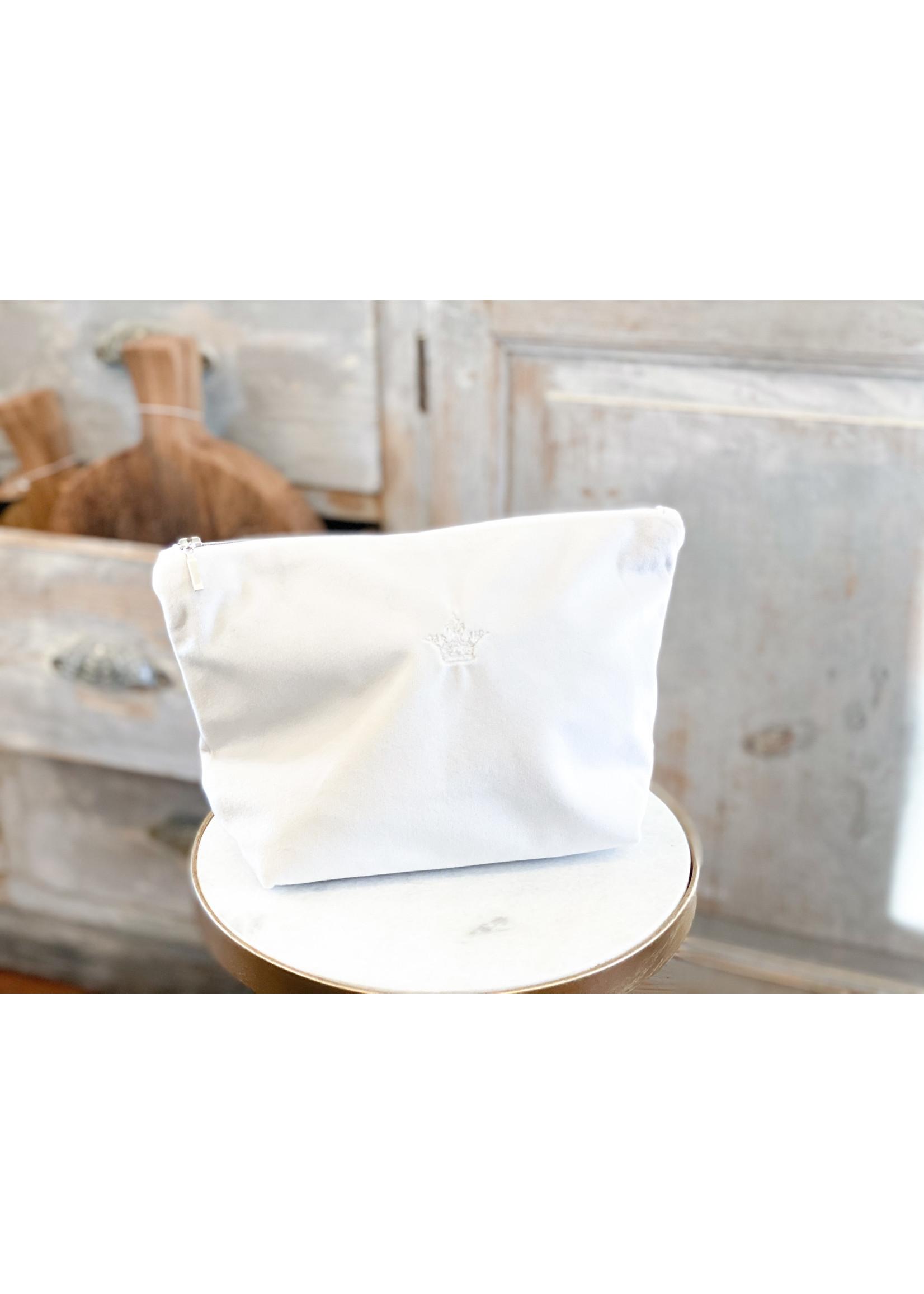 Crown Linen On The Go Bag - Crown - Velvet Cream Medium