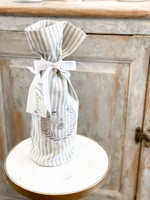 Crown Linen Wine Bag - Bumble Bee - Stripe
