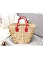 French Market Tote - Tatami Boat Bag Small Red