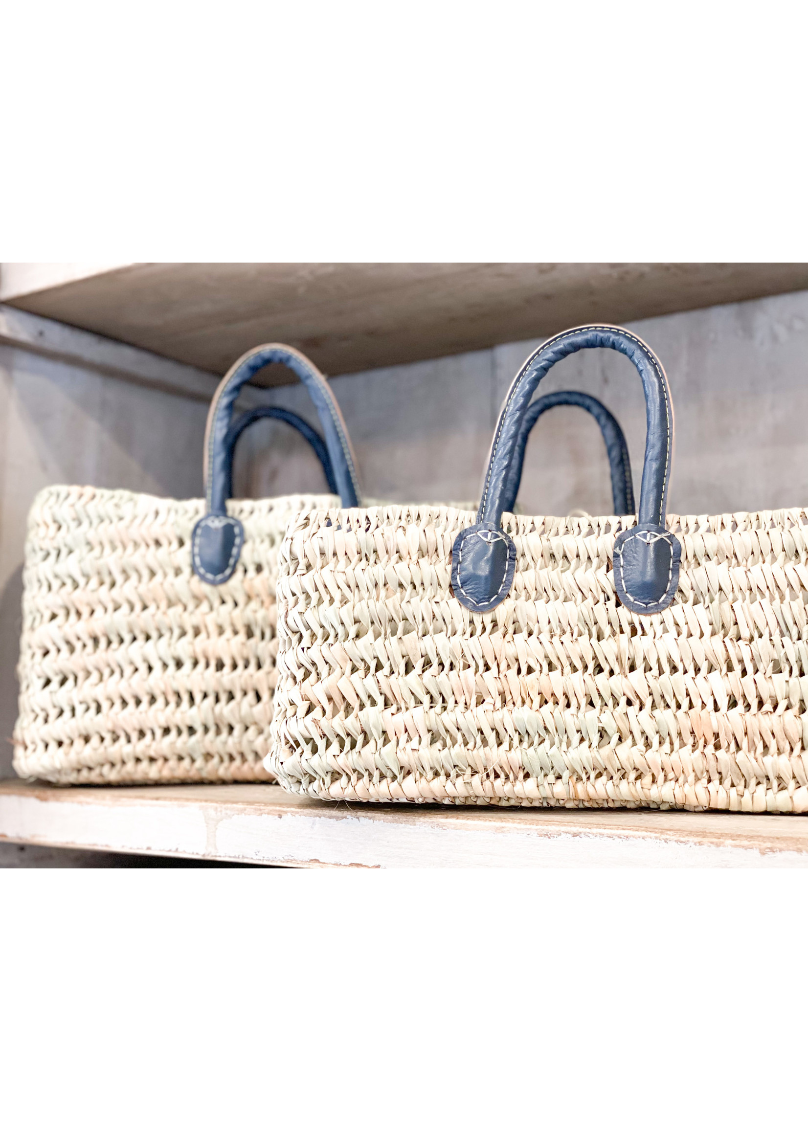 French Market Tote - Casablanca Large - Blue