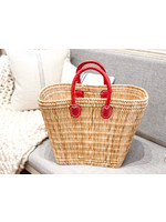 French Market Tote - Tatami Boat Bag Large Red