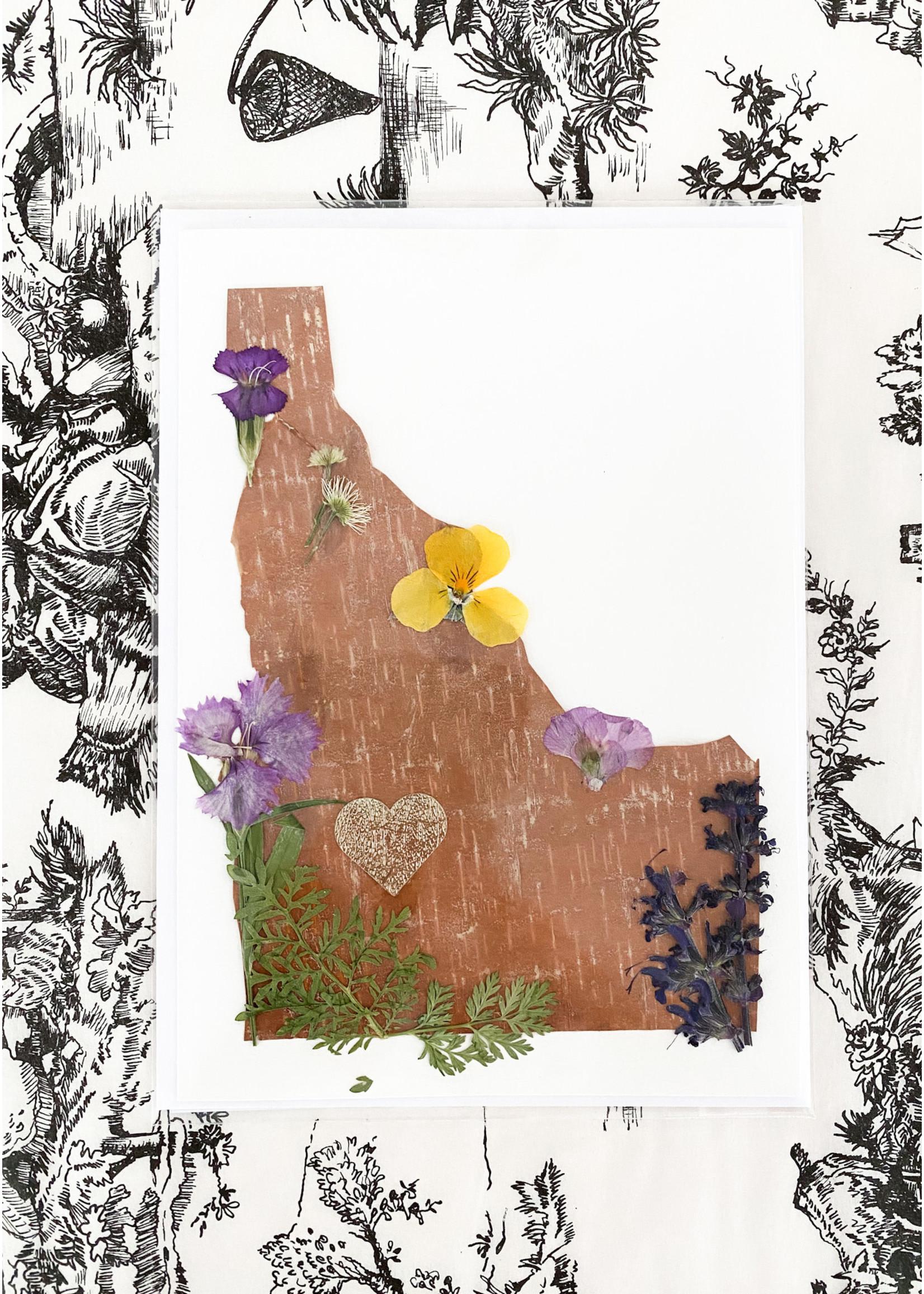 Warm Springs Studio Locally Handmade & Pressed Flower & Birch Cards