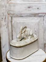 Yarnnakarn Rabbit Crouching Lidded Vessel