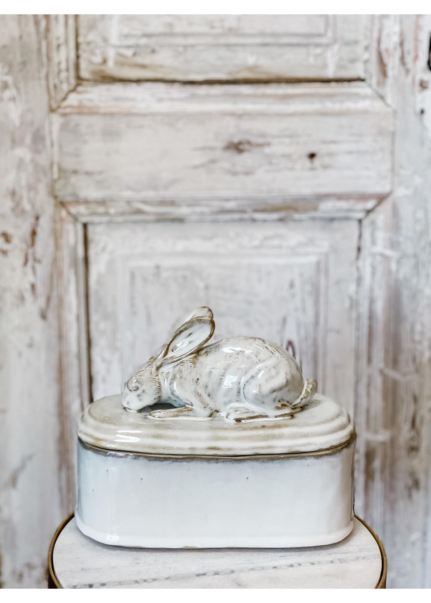 Yarnnakarn Crouching Rabbit Lidded Vessel